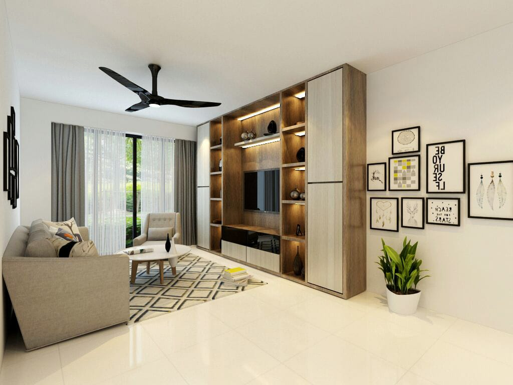 Tampines qbay condo renovation singapore package quote house contractor living room