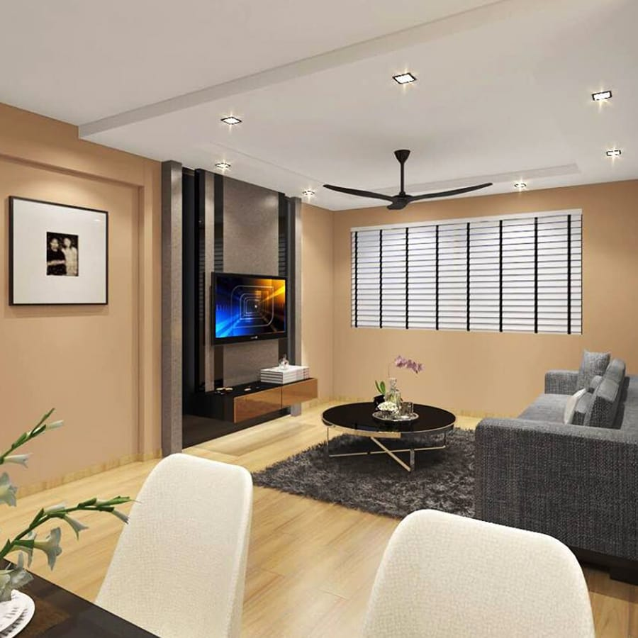 Fernvale living room renovation singapore bto package quote house contractor