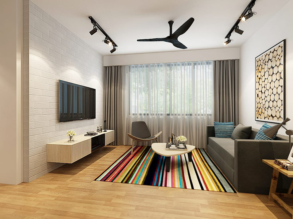 Ridgeview living room hdb renovation singapore package quote house contractor