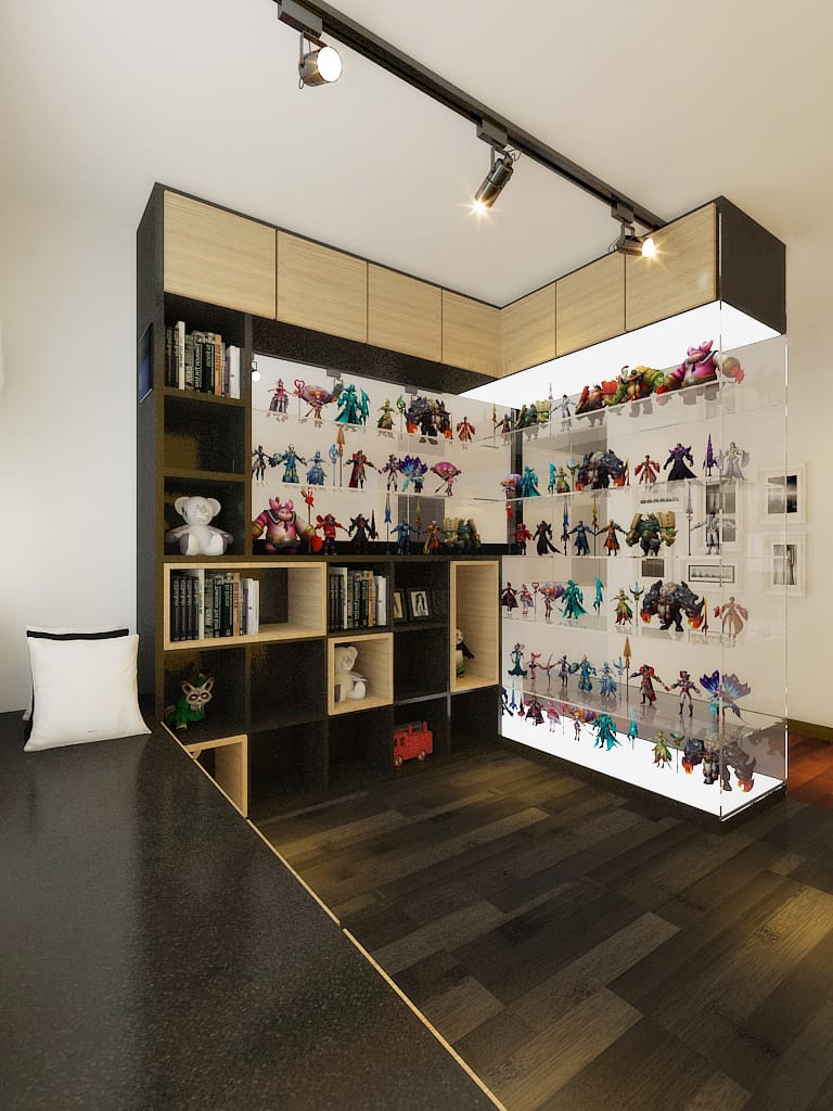 Watervay condo display cabinet renovation singapore package quote house contractor